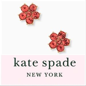 kate spade NEW YORK CORAL FLOWER STUDS